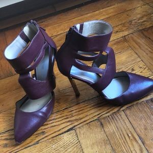Pour la Victoire- Plum caged heels
